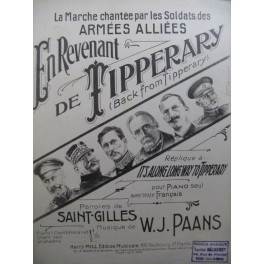 SAINT GILLES En Revenant de Tipperary Piano Chant 1915
