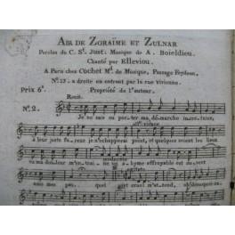 BOIELDIEU Adrien Zoraïme et Zulnare No 2 Air Chant ca1830