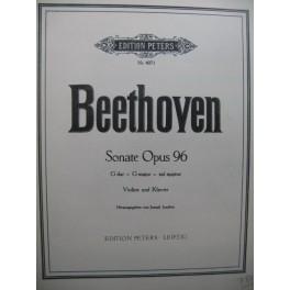 BEETHOVEN Sonate op 96 Piano Violon