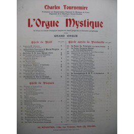 TOURNEMIRE Charles L'Orgue Mystique No 17 Orgue 1928