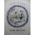 ROBILLARD Victor Enfants et Bluets Piano Chant XIXe siècle
