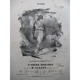 BOIELDIEU Adrien Povero Chant Piano XIXe