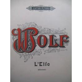 WOLF Hugo L'Elfe Mélodie Chant Piano