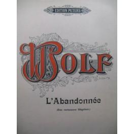 WOLF Hugo L'Abandonnée Mélodie Chant Piano