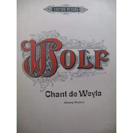 WOLF Hugo Chant de Weyla Mélodie Chant Piano