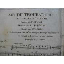BOIELDIEU Adrien Zoraïme et Zulnare No 3 Air Chant ca1830