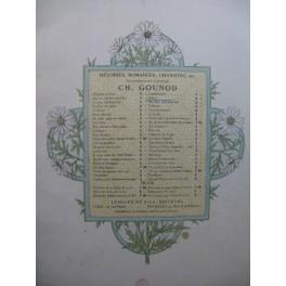 GOUNOD Charles Prière Piano Chant ca1885