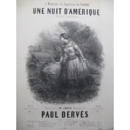 DERVES Paul Une Nuit d'Amérique Piano Chant ca1850