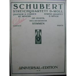 SCHUBERT Franz Quatuor à cordes Ré mineur Violon Alto Violoncelle