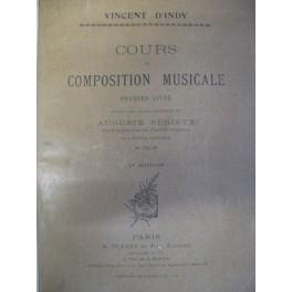 D'INDY Vincent Cours de Composition Musicale 1er Livre