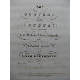 BEETHOVEN Quatuor No 14 Grande Fugue Violoncelle ca1840