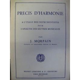 MORPAIN J. Précis d'Harmonie 1935