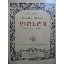 PENNEQUIN J.-G. Méthode de Violon 1900