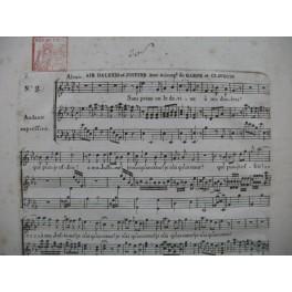 DEZÈDZE Nicolas Alexis et Justine No 2 Air Chant Harpe ou Clavecin ca1785