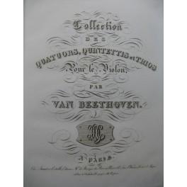 BEETHOVEN Quatuors Quintettes Trios Violoncelle ca1830