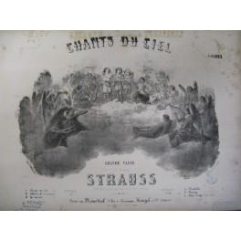 STRAUSS Johann Père Chants du Ciel piano ca1850