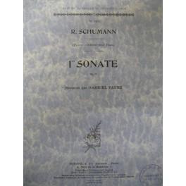 SCHUMANN Robert Sonate n° 1 op 11 piano