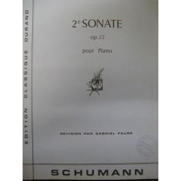 SCHUMANN Robert Sonate n° 2 op 22 piano