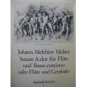 MOLTER Johann Melchior Sonate in A dur Flûte Clavecin 1978