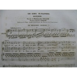 ANDRADE Auguste Un Ciel Etranger Chant Piano 1835