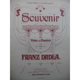 DRDLA Franz Souvenir Piano Violon