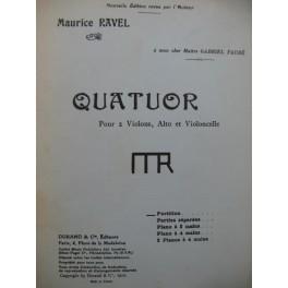 RAVEL Maurice Quatuor Violon Alto Violoncelle 1955