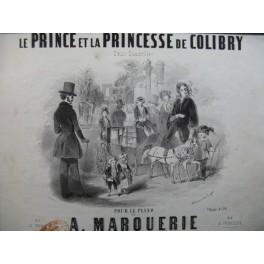 MARQUERIE A. Le Prince et la Princesse de Colibry Piano ca1850