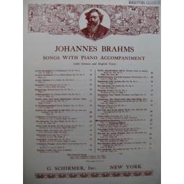 BRAHMS Johannes Vergebliches Ständchen Chant Piano 1937