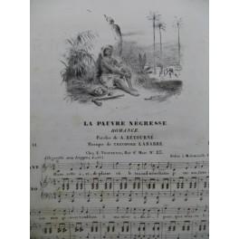 LABARRE Théodore La Pauvre Négresse Piano Chant ca1833