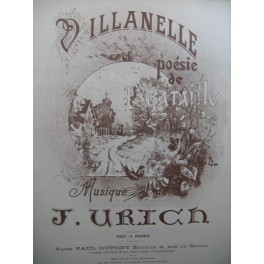 URICH J. Villanelle Chant Piano