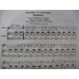 STRUNZ Jacques Madame La Vallière Chant Piano 1835