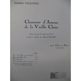 VELLONES Pierre Le Collet Bleu Chant Piano 1931