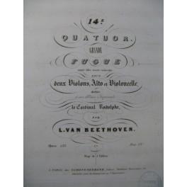 BEETHOVEN Quatuor No 14 Grande Fugue Alto ca1840