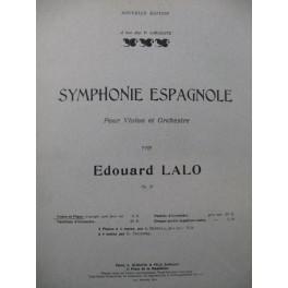 LALO Edouard Symphonie Espagnole op 21 Violon Piano 1908