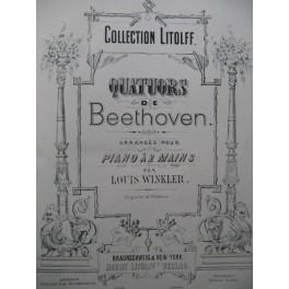 BEETHOVEN HAYDN MOZART Quatuors Piano XIXe