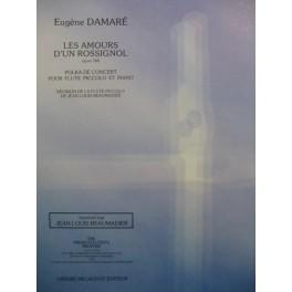 DAMARÉ Eugène Les Amours d'un Rossignol op 160 Piano Flute Piccolo 1994