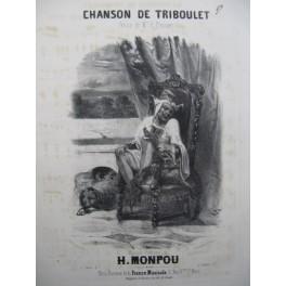 MONPOU Hippolyte La Chanson de Triboulet Nanteuil Chant Piano ca1840
