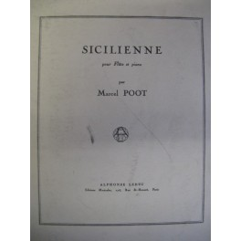 POOT Marcel Sicilienne flute piano
