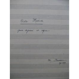BUSSON M. Ave Maria op 159 Manuscrit Chant Orgue 1948