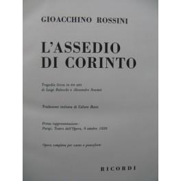 ROSSINI G. L'Assedio di Corinto Opéra Chant Piano 1949