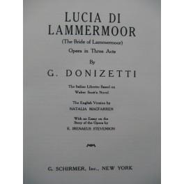 DONIZETTI G. Lucia di Lammermoor Opera Chant Piano 1926