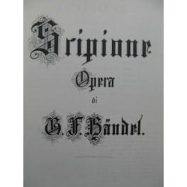 HAENDEL G. F. Scipione Opéra Chant Orchestre 1966