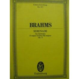 BRAHMS Johannes Serenade D major Orchestre