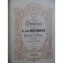 BEETHOVEN Symphonies No 1 à 5 Piano Violon