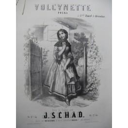 SCHAD J. Volcynette Polka Piano ca1854