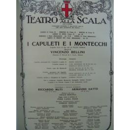 BELLINI Vincenzo I Capuleti e I Montecchi Opéra Programme Scala 1987