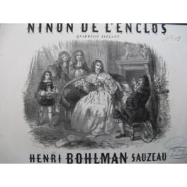 BOHLMAN SAUZEAU Henri Ninon de L'Enclos Piano 1852