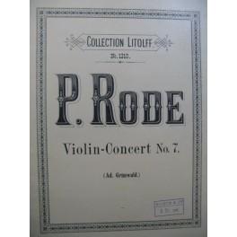 RODE Pierre Concerto No 7 Violon Piano
