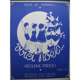 PIRIOU Adolphe Voici Noël Piano Chant 1934