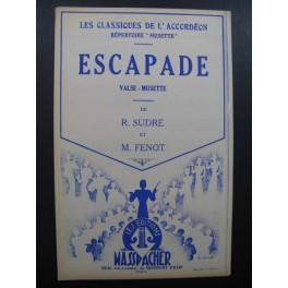 Escapade Valse Musette R. Sudre M. Fenot Accordéon 1953